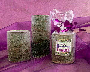 Delightfully natural huckleberry bliss candles