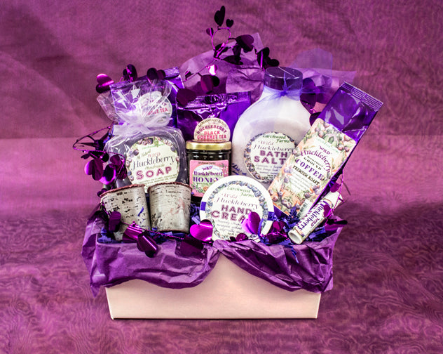 Hucklberry spa heaven for the hucklberry lover - handmade and beautifully arranged.