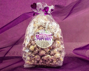 Huckleberry Delicacy! Larchwood Farms Huckleberry Chocolate Drizzle Butter Popcorn is a flavor experience your tastebuds will repeatedly thank you for!
