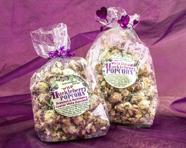 Huckleberry Delicacy! Larchwood Farms Huckleberry Chocolate Drizzle Butter Popcorn is a flavor experience your tastebuds will thank you for!