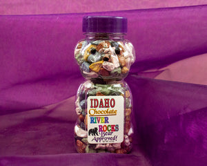 Made in Idaho Chocolate River Rocks - Delicous Fun in a 4.5 oz Giftable Bottle