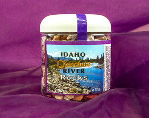 Made in Idaho Chocolate River Rocks - Delicous Fun in a 7.5 oz Giftable Bottle