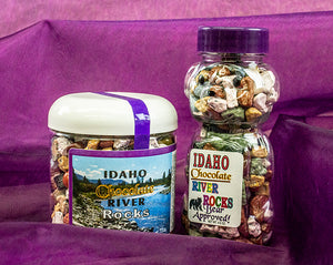 Made in Idaho Chocolate River Rocks - Delicous Fun in a Giftable Bottle