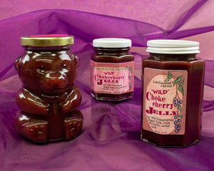 Handcrafted, small batch, no sugar added wild chokecherry jelly - made in Idaho at Larchwood Farms