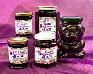 Wild Huckleberry Jam Made with Organic Ingredients
