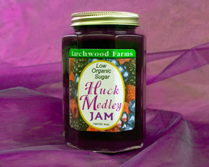 No sugar added, wild, organic huckleberry - marion berry - raspberry jam - 11 ounces of magical trio of flavor!