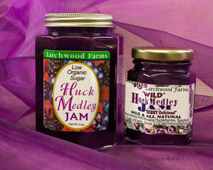 Delightfully delicious, no sugar added, wild, organic huckleberry - marion berry - raspberry jam