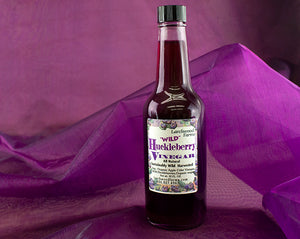 Hand crafted huckleberry vinegar for the best vinaigrettes and marinades