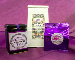 Beautifully packaged fine huckleberry black tea