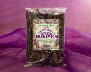 Wowza! Flavor! Wild Huckleberry, chewy tender licorice ropes.