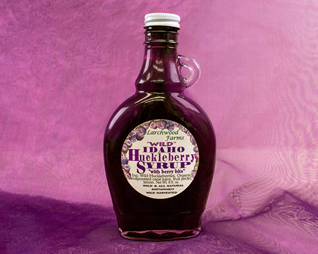 Stands on top of your pancake, berry bold, delicious huckleberry syrup!