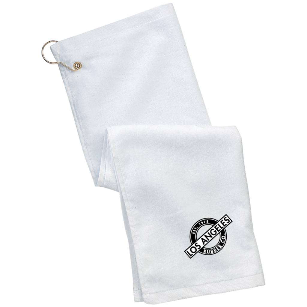 Grommeted Lube Towel blk&wht