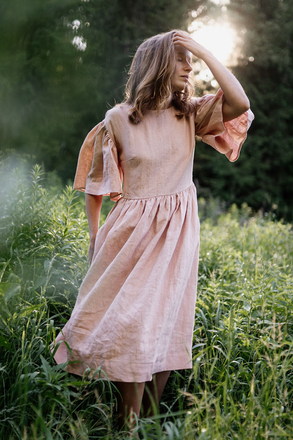 Intuitive Dress Garden Peach