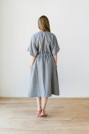 Silence Dress Grey Earth