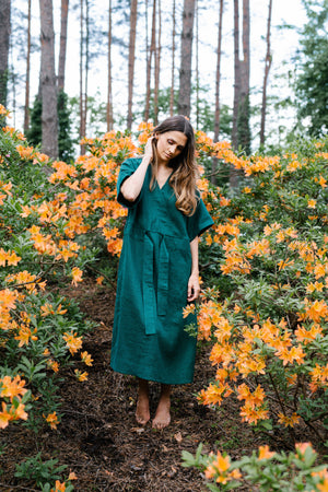 Silence Dress Forest Green