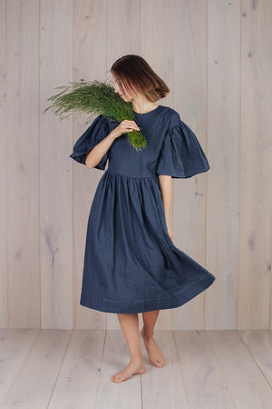 Intuitive Dress Deep Grey Blue