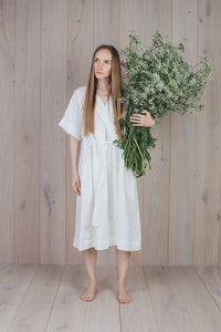 Silence Dress White Milk