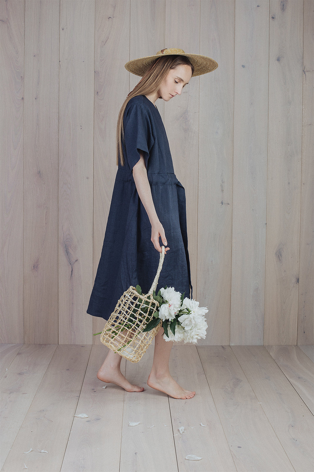 Silence Dress Deep Grey Blue