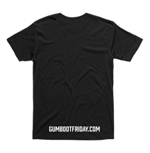 Load image into Gallery viewer, Gumboot Up NZ on a black tee (limited edition)