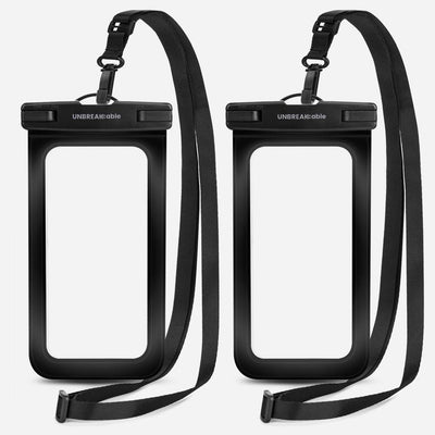 Black Universal Waterproof Pouch – 2 Packs