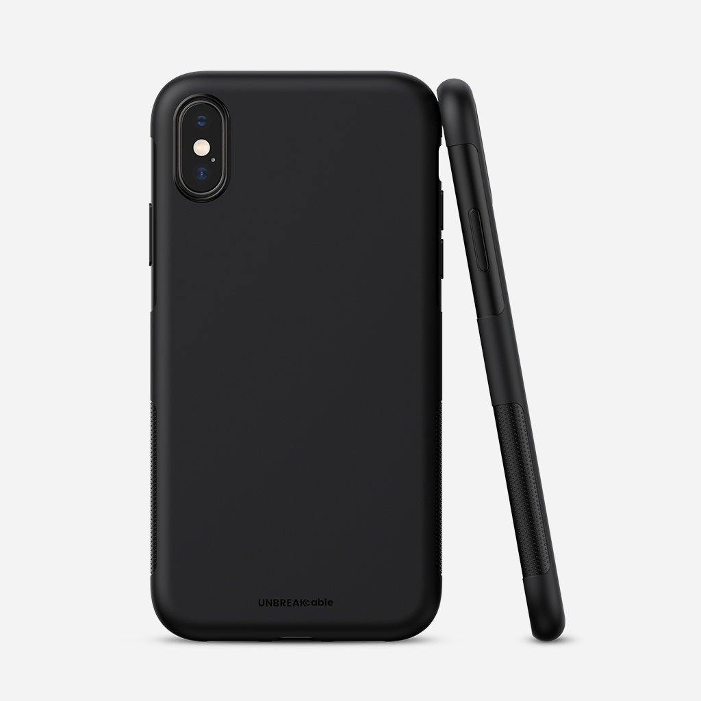 iPhone X/XS Soft TPU Phone Case - Black