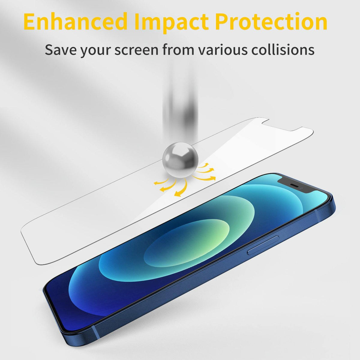 iPhone 12 Tempered Glass Screen Protector - 3 Packs