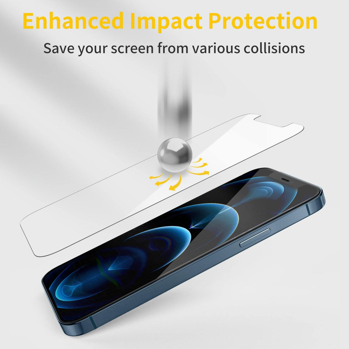 iPhone 12 Pro Max Tempered Glass Screen Protector - 3 Packs