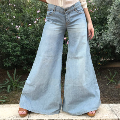 The Most Fabulous 70's Pinstripe Bell Bottoms