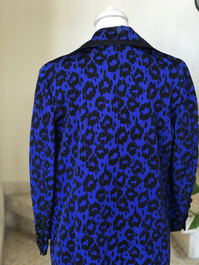 1980's Vintage Animal Print Silk Lined Blazer