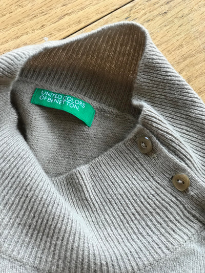 United Colors of Benetton Button Up Turtleneck Sweater