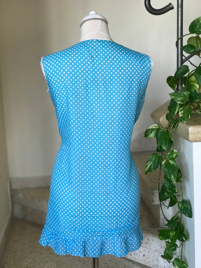 Vintage Polka Dot Sleeveless Lace Trim Tank