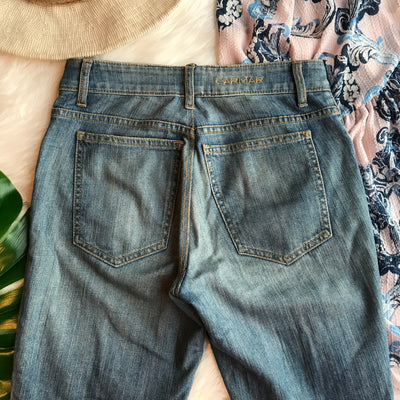 LF Carmar High Waisted Distressed Blue Jeans