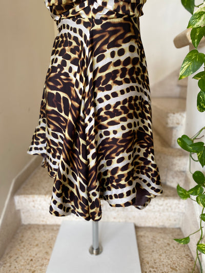 Roberto Cavalli Leopard Print Empire Line Dress