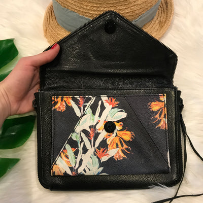 Rebecca Minkoff Marlowe Mini Hawaiian Print Genuine Leather Cross Body Bag