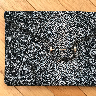 Pantera Piercing Animal Print Envelope Clutch