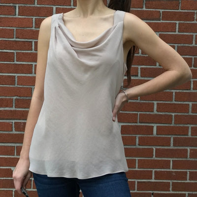 Theory Vneck Sleeveless Wrap Tank Top