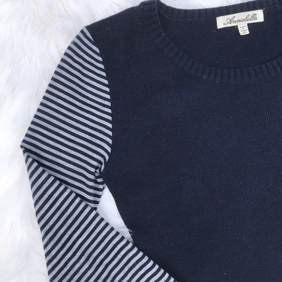 Annabella Striped Arms Sweater