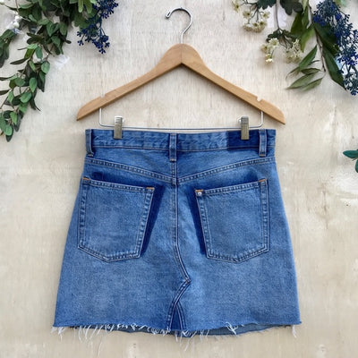 H&M Distressed Denim Skirt