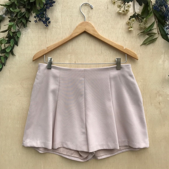 Greylin High Waisted Pink Pleated Shorts