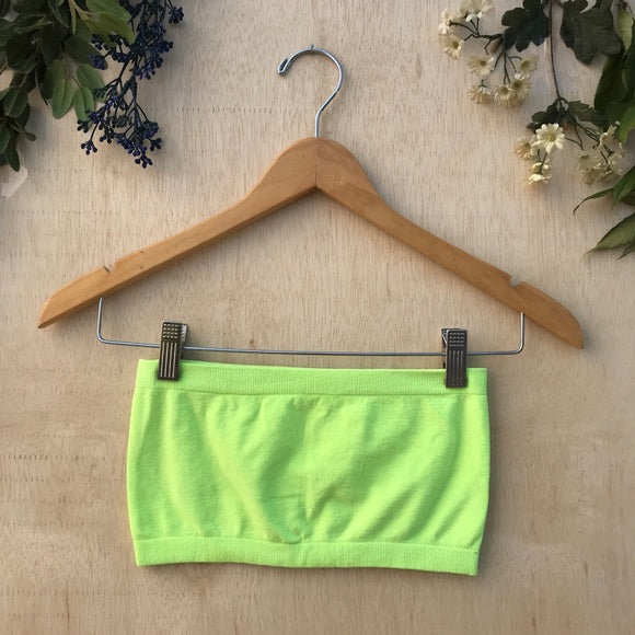 Neon Highlighter Neon Stretchy Bandeau Top