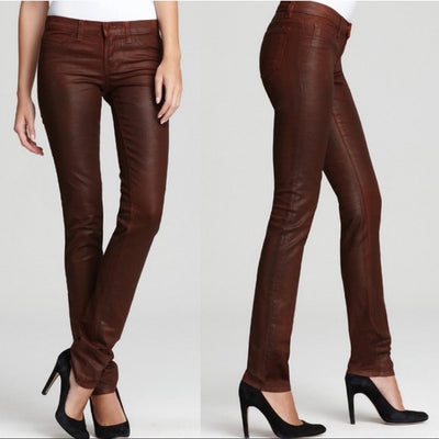 J Brand | Pencil Leg Turbulent Coated Clay Jeans