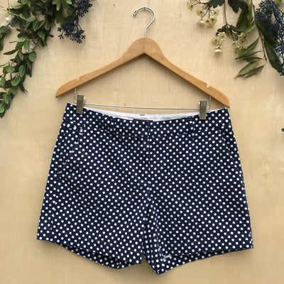 Lands' End Blue and White Polka Dot Shorts