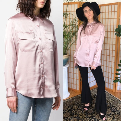 Equipment New Signature Shirt Metallic Pink