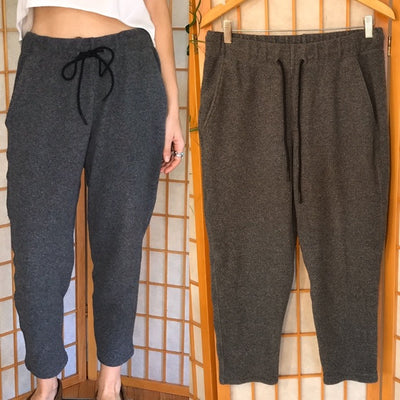 Theory 38 Drawstring Gray Cropped Joggers