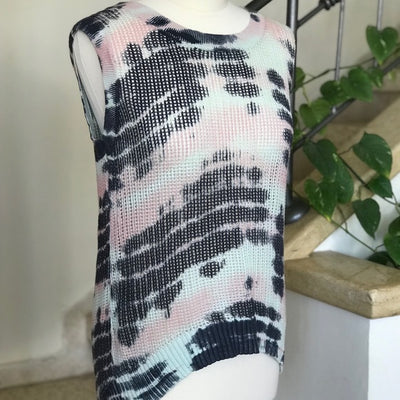Julie Tie Dye Knit Sleeveless Top