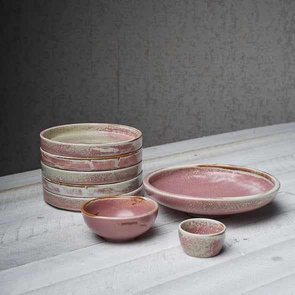 Rustic Blush Shallow Serving Bowl