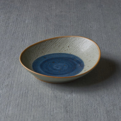 Quail Egg Blue Slopped Bowl