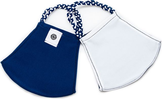 Pom Face Mask 2 Pack - Navy/White