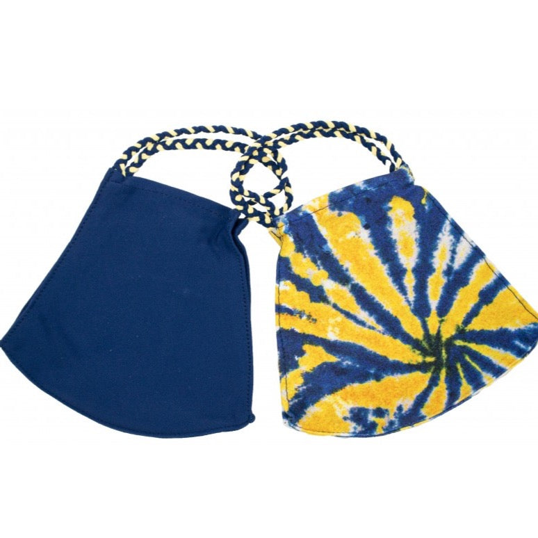 Pom Face Mask 2 Pack - Sunshine Tie Dye