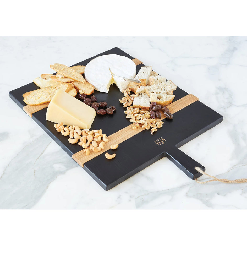Black Rectangle Mod Charcuterie Board, Medium